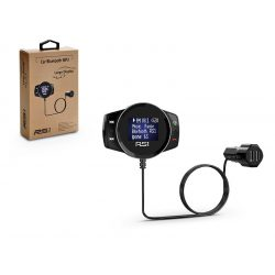 BCFM-SR1 FM-transmitter -  Bluetooth + memóriakártya olvasó + 2xUSB autós töltő - 2,4A - fekete