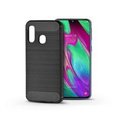 Samsung A405F Galaxy A40 szilikon hátlap - Carbon - fekete