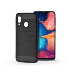 Samsung A202F Galaxy A20e szilikon hátlap - Carbon - fekete