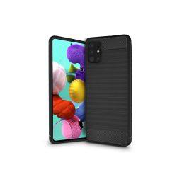 Samsung A515F Galaxy A51 szilikon hátlap - Carbon - fekete