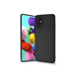 Samsung A515F Galaxy A51 szilikon hátlap - Soft - fekete