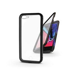 Apple iPhone 7 Plus/iPhone 8 Plus mágneses, 2 részes hátlap előlapi üveggel - Magneto 360 - fekete