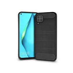 Huawei P40 Lite szilikon hátlap - Carbon - fekete