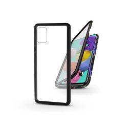 Samsung A515F Galaxy A51 mágneses, 2 részes hátlap előlapi üveggel - Magneto 360 - fekete