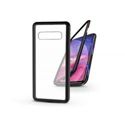 Samsung G975U Galaxy S10+ mágneses, 2 részes hátlap előlapi üveg nélkül - Magneto - fekete