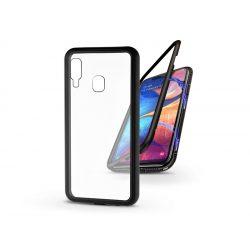 Samsung A202F Galaxy A20e mágneses, 2 részes hátlap előlapi üveg nélkül - Magneto - fekete