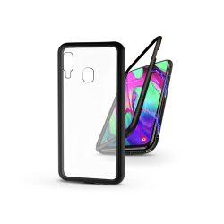 Samsung A405F Galaxy A40 mágneses, 2 részes hátlap előlapi üveg nélkül - Magneto - fekete