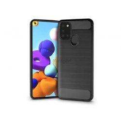 Samsung A217F Galaxy A21s szilikon hátlap - Carbon - fekete