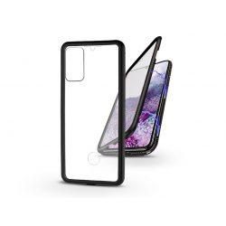 Samsung G985F Galaxy S20+ mágneses, 2 részes hátlap előlapi üveggel - Magneto 360 - fekete