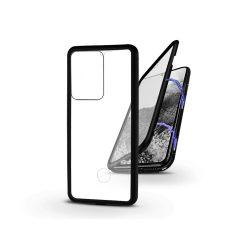Samsung G988F Galaxy S20 Ultra mágneses, 2 részes hátlap előlapi üveggel - Magneto 360 - fekete