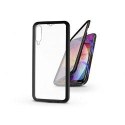 Samsung A505F Galaxy A50/A30s mágneses, 2 részes hátlap előlapi üveggel - Magneto 360 - fekete