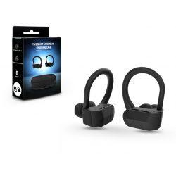TWS Bluetooth sztereó sport headset v5.0 + töltőtok - EP-016 Sport Earbuds in Charging Case - black