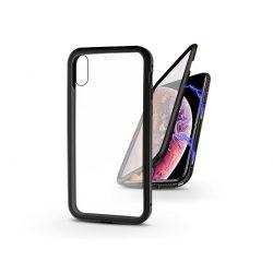 Apple iPhone X/XS mágneses, 2 részes hátlap előlapi üveggel - Magneto 360 - fekete