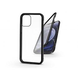 Apple iPhone 12/12 Pro mágneses, 2 részes hátlap előlapi üveggel - Magneto 360 - fekete