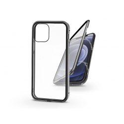 Apple iPhone 12/12 Pro mágneses, 2 részes hátlap előlapi üveggel - Magneto 360 - ezüst