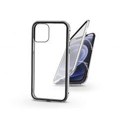 Apple iPhone 12 Mini mágneses, 2 részes hátlap előlapi üveggel - Magneto 360 - ezüst
