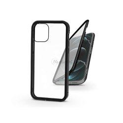 Apple iPhone 12 Pro Max mágneses, 2 részes hátlap előlapi üveggel - Magneto 360 - fekete