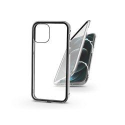 Apple iPhone 12 Pro Max mágneses, 2 részes hátlap előlapi üveggel - Magneto 360 - ezüst