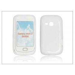 Samsung S6500 Galaxy Mini 2 szilikon hátlap - fehér - S-Line