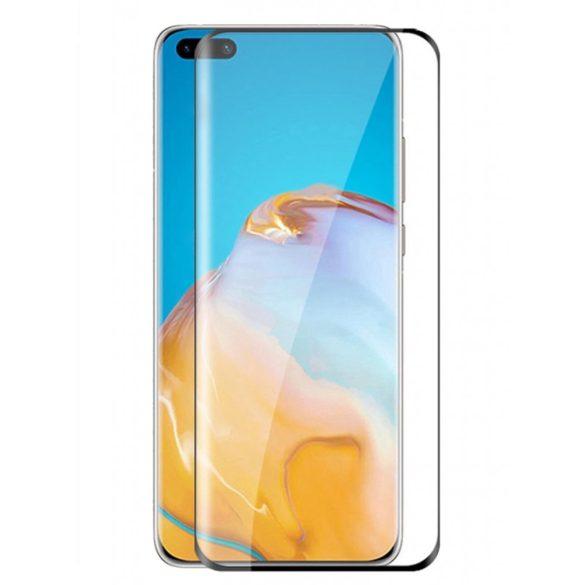 Huawei P40 Pro karcálló edzett üveg HAJLÍTOTT TELJES KIJELZŐS Tempered Glass kijelzőfólia kijelzővédő fólia kijelző védőfólia eddzett UV kötésű