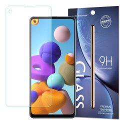 Samsung Galaxy A21s / A21 karcálló edzett üveg Tempered Glass kijelzőfólia kijelzővédő fólia kijelző védőfólia eddzett 21 s SM-A217