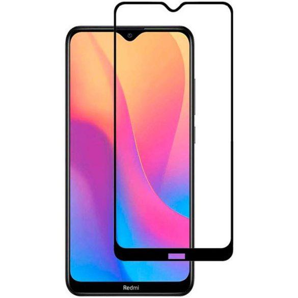 Xiaomi Redmi 8 8A edzett üveg FEKETE TELJES KÉPERNYŐS FULL SCREEN HAJLÍTOTT tempered glass kijelzőfólia kijelzővédő védőfólia karcálló kijelzős
