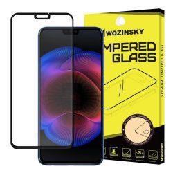 Honor 8X edzett üveg FEKETE TELJES KÉPERNYŐS FULL SCREEN HAJLÍTOTT tempered glass kijelzőfólia kijelzővédő védőfólia karcálló kijelzős