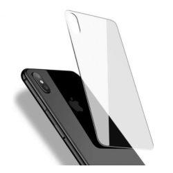 Apple iPhone X XS karcálló edzett üveg hátlapvédő tempered glass kijelzőfólia kijelzővédő védőfólia kijelző