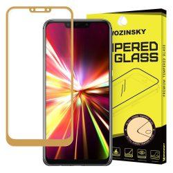 Huawei Mate 20 LITE edzett üveg ARANY TELJES KÉPERNYŐS FULL SCREEN HAJLÍTOTT tempered glass kijelzőfólia kijelzővédő védőfólia karcálló kijelzős