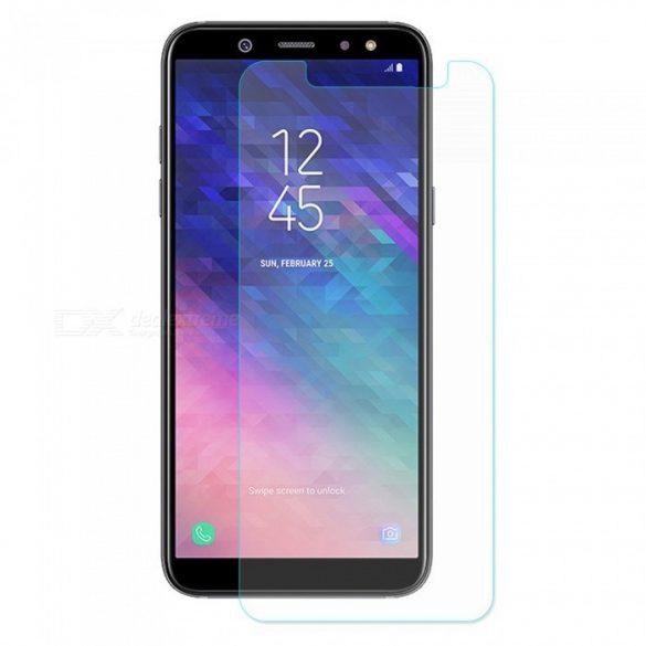 Samsung Galaxy A6 Plus + karcálló edzett üveg Tempered Glass kijelzőfólia kijelzővédő fólia kijelző védőfólia eddzett A605F 2018