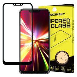Huawei Mate 20 LITE edzett üveg 5D FEKETE TELJES KÉPERNYŐS FULL SCREEN HAJLÍTOTT tempered glass kijelzőfólia kijelzővédő védőfólia karcálló kijelzős