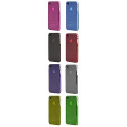 iPhone 4/4S vékony matt tok telefontok szilikon tok műanyag védőtok fólia
