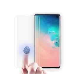 Samsung Galaxy S10+ Plus SM-G975 karcálló edzett üveg HAJLÍTOTT TELJES KIJELZŐS Tempered Glass kijelzőfólia kijelzővédő fólia kijelző védőfólia eddzett