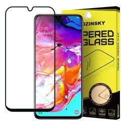 Samsung Galaxy A70 A70s karcálló edzett üveg TELJES KÉPERNYŐS FEKETE Tempered Glass kijelzőfólia kijelzővédő fólia kijelző védőfólia eddzett SM-A705F