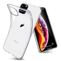 iPhone 11 Pro Max átlátszó szilikontok vékony fényes telefontok tok tartó Apple