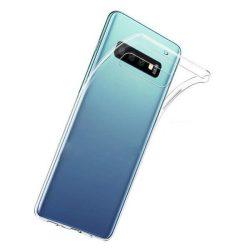 Samsung Galaxy S10 Plus + átlátszó szilikontok vékony fényes telefontok tok tartó SM-G975