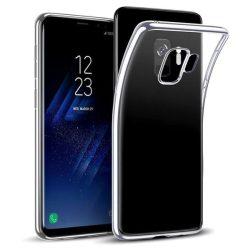 Samsung Galaxy S9 átlátszó szilikontok vékony fényes telefontok tok tartó SM-G960F