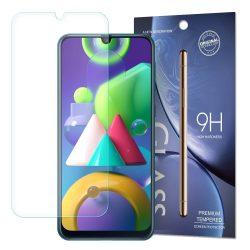 Samsung Galaxy M21 karcálló edzett üveg Tempered Glass kijelzőfólia kijelzővédő fólia kijelző védőfólia eddzett