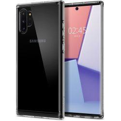Samsung Galaxy Note 10 Plus + átlátszó szilikontok vékony fényes telefontok tok tartó SM-N975