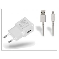 Samsung gyári USB hálózati töltő adapter + micro USB adatkábel - 5V/2A - EP-TA10EWE + ECB-DU4AWE/EWE white (ECO csomagolás)