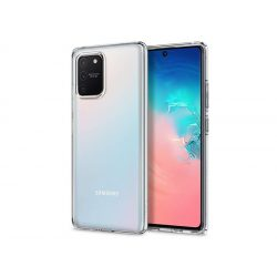 Samsung G770F Galaxy S10 Lite ütésálló hátlap - Spigen Liquid Crystal - átlátszó