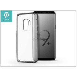 Samsung G965F Galaxy S9 Plus hátlap - Devia Shockproof - crystal clear/gun black