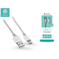USB - USB Type-C adat- és töltőkábel 1 m-es vezetékkel - Devia Pheez USB Type-C 2.0 Cable -silver