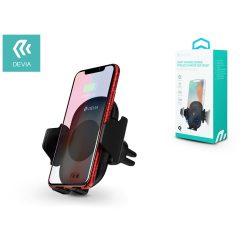 Devia szellőzőrácsba illeszthető vezeték nélküli autós töltő/tartó - 5V/1A - Devia Smart Infrared Sensor Wireless Fast Car Mount - Qi szabványos