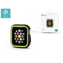 Apple Watch 4 védőtok - Devia Dazzle Series 40 mm - fekete/neon zöld