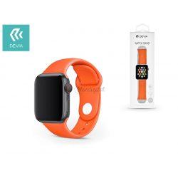 Apple Watch lyukacsos sport szíj - Devia Deluxe Series Sport Band - 38/40 mm - orange