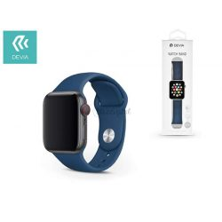 Apple Watch lyukacsos sport szíj - Devia Deluxe Series Sport Band - 42/44 mm - blue