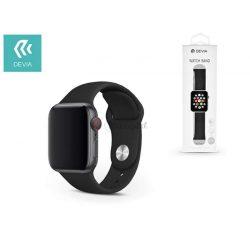 Apple Watch lyukacsos sport szíj - Devia Deluxe Series Sport Band - 42/44 mm - black