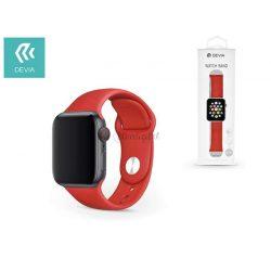 Apple Watch lyukacsos sport szíj - Devia Deluxe Series Sport Band - 42/44 mm - red