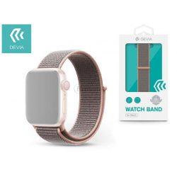 Apple Watch lyukacsos sport szíj - Devia Deluxe Series Sport3 Band - 38/40 mm - pink sand